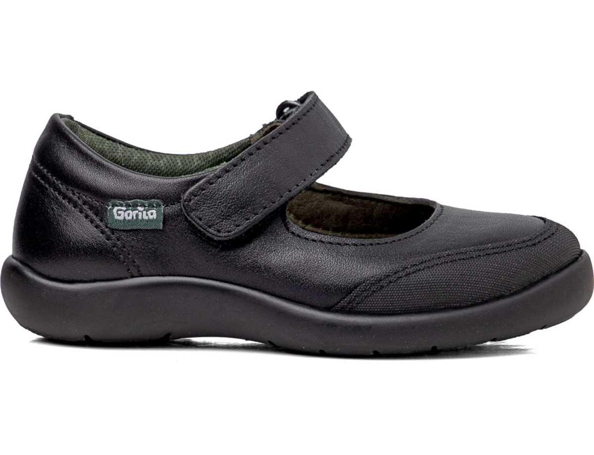 Gorila Niña Zapato Colegial Negro