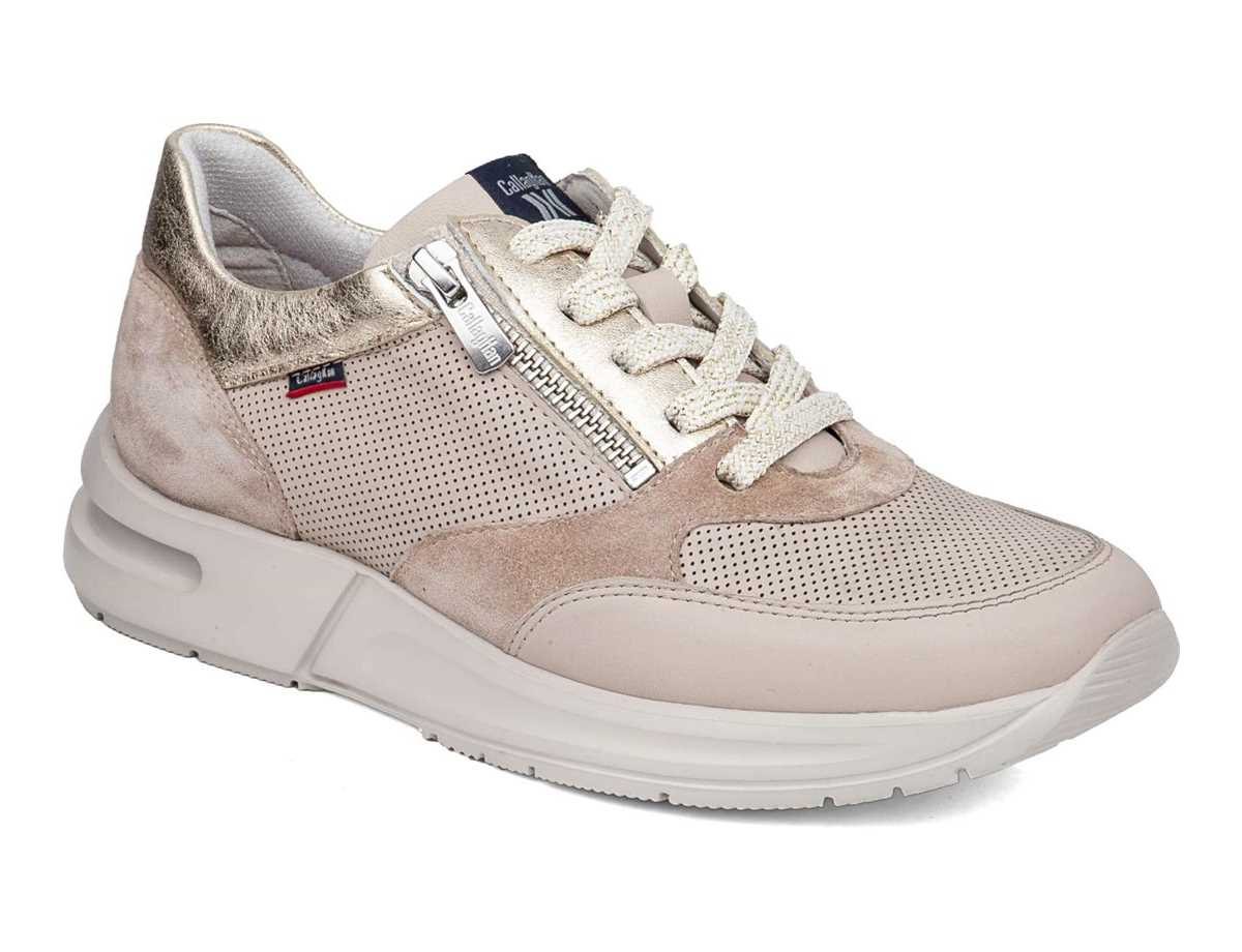 Callaghan Mujer Zapato Sneakers Oro