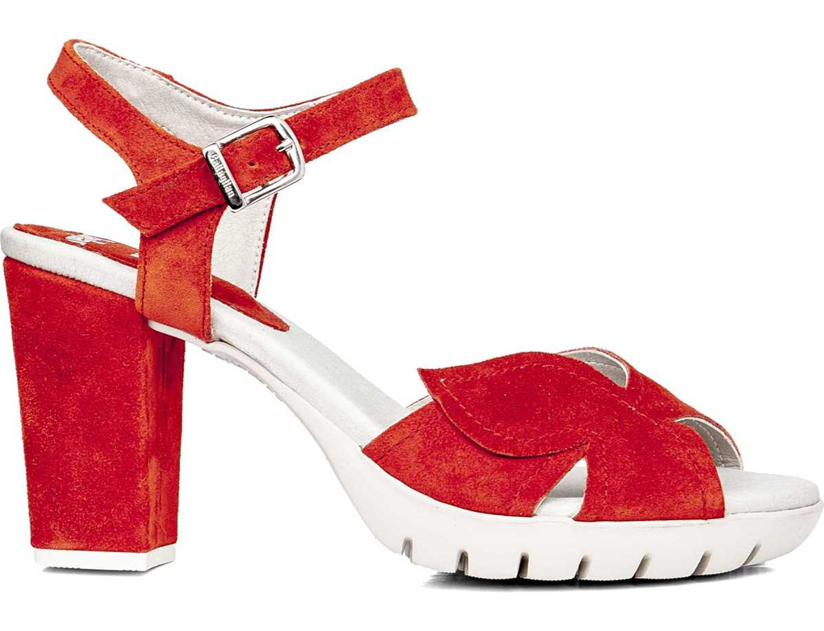 Callaghan Mujer Sandalia Tacon Vestir Rojo