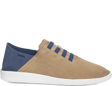 Callaghan Hombre Zapato Casual Beig Azul In Cro Piedra Persa