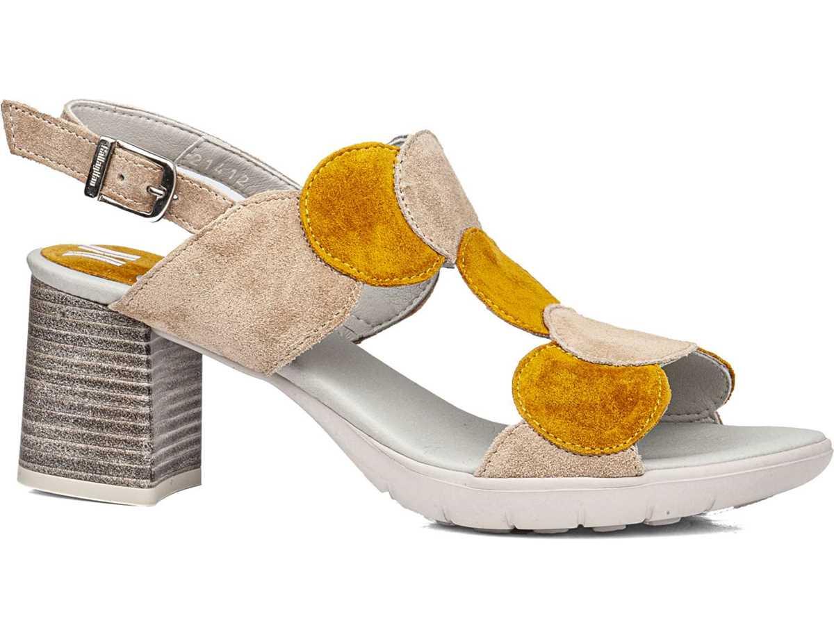 Callaghan Mujer Sandalia Vestir Amarillo