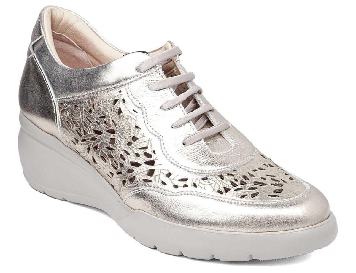 Callaghan Mujer Zapato Casual Platino