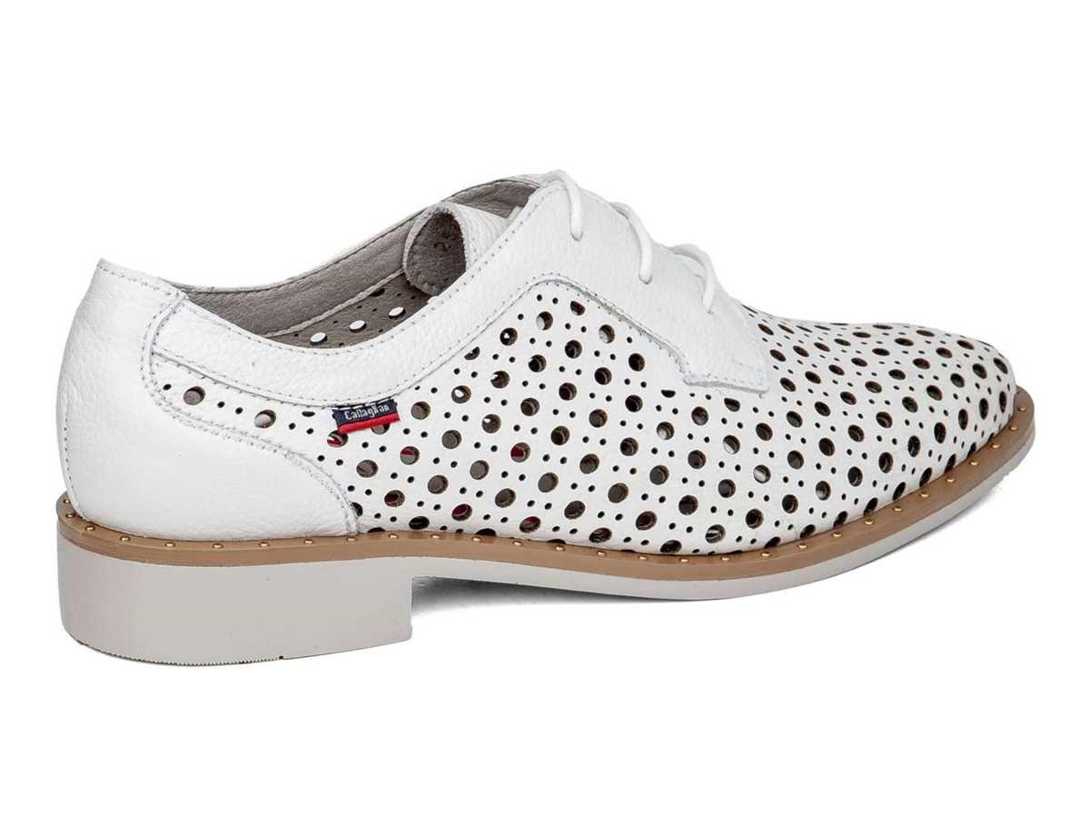 Callaghan Mujer Zapato Clasico Blanco