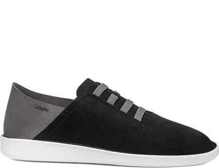 Callaghan Hombre Zapato Casual Negro Gris In Cro Persa