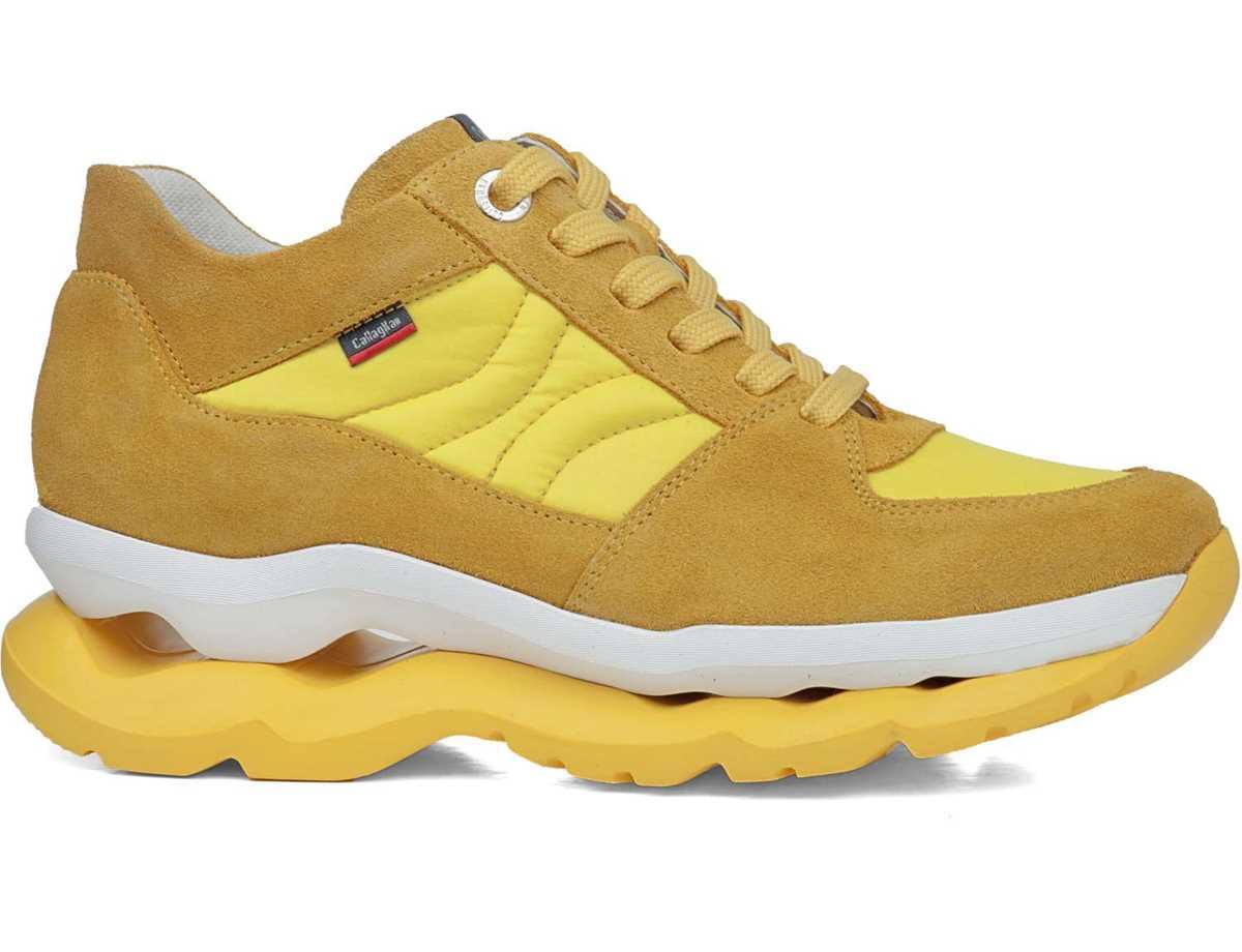 Callaghan Mujer Botin Casual Amarillo