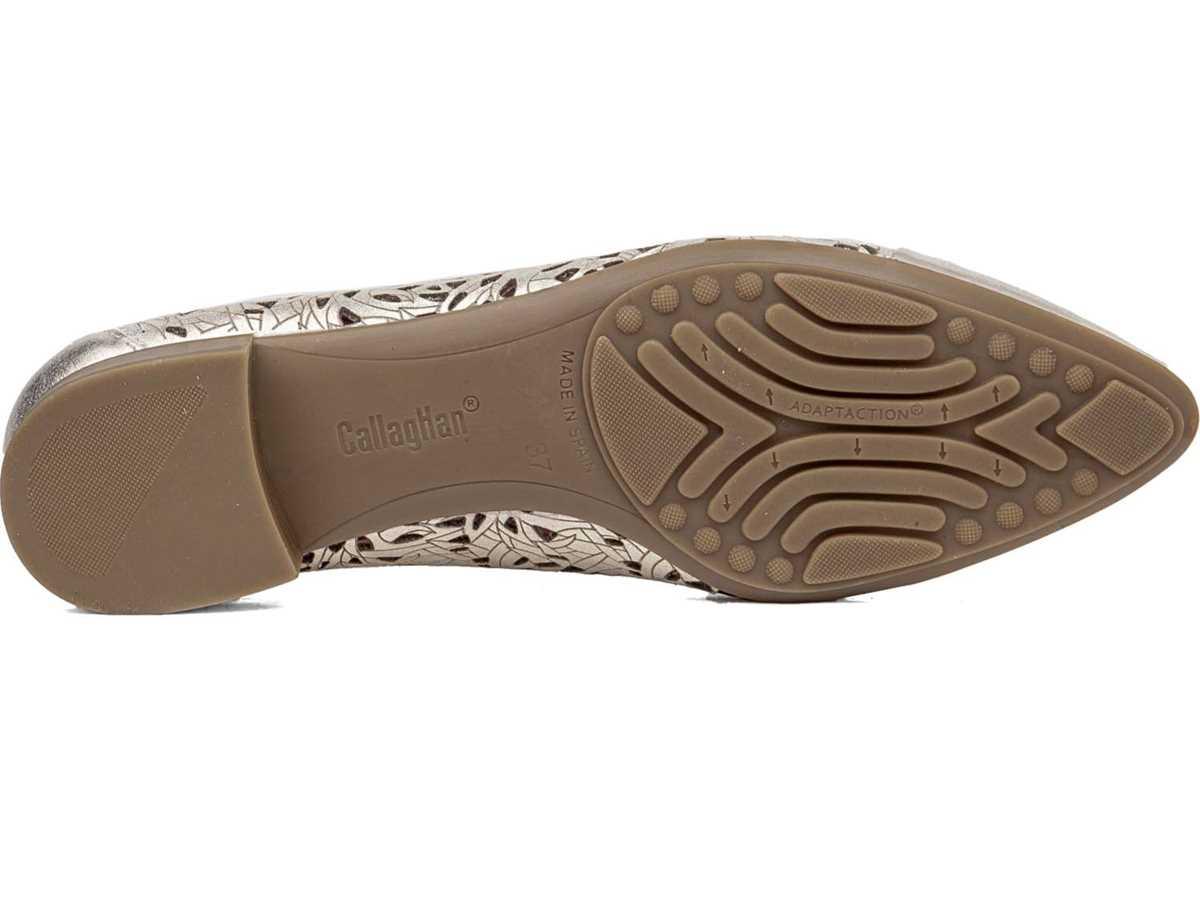 Callaghan Mujer Zapato Clasico Platino