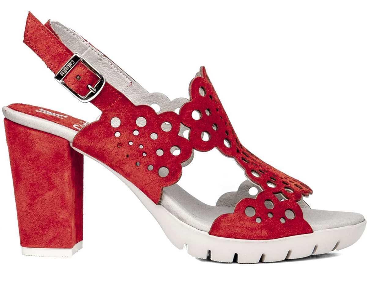 Callaghan Mujer Sandalia Vestir Rojo