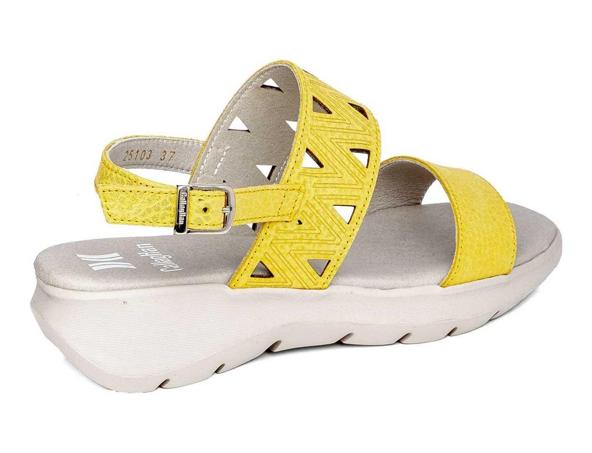 Callaghan Mujer Sandalia Casual Amarillo