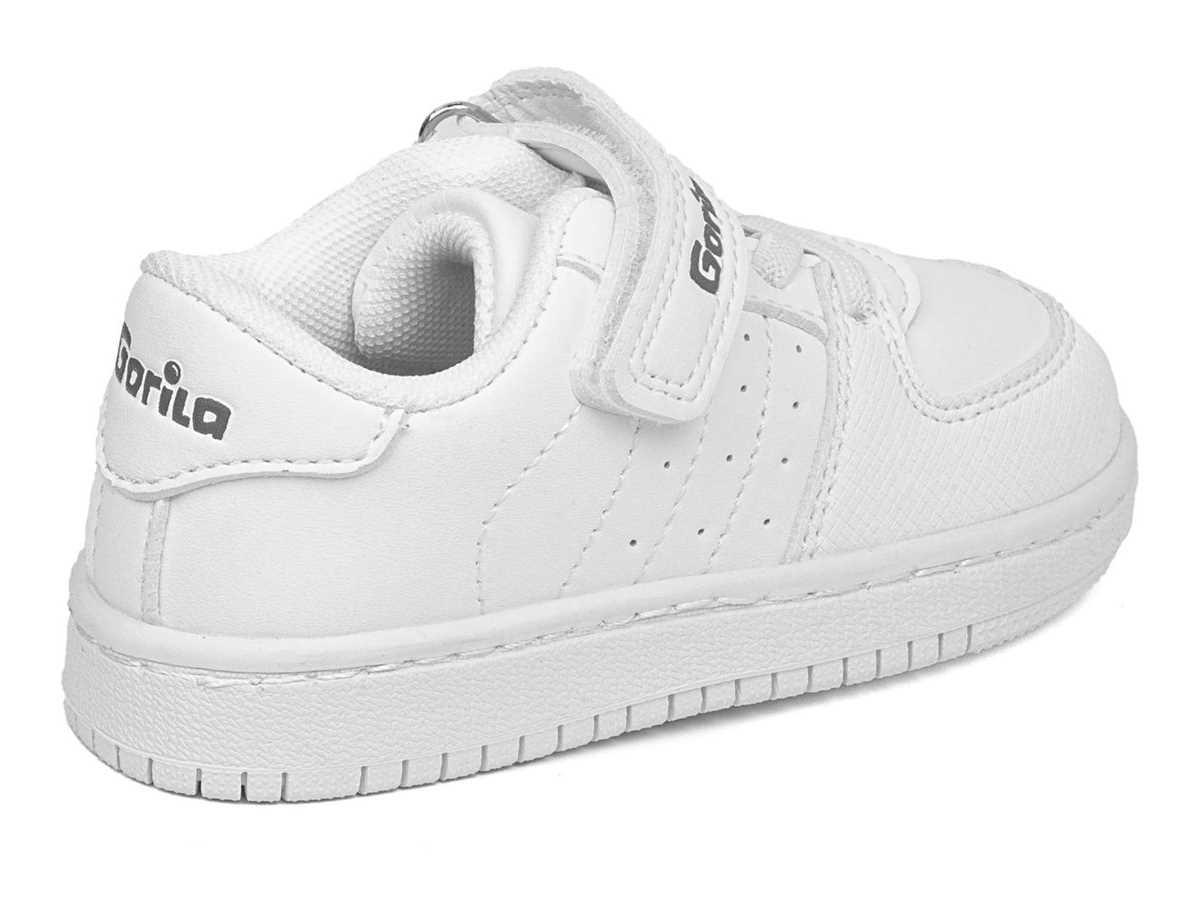 Gorila Niño Zapato Sneakers Blanco