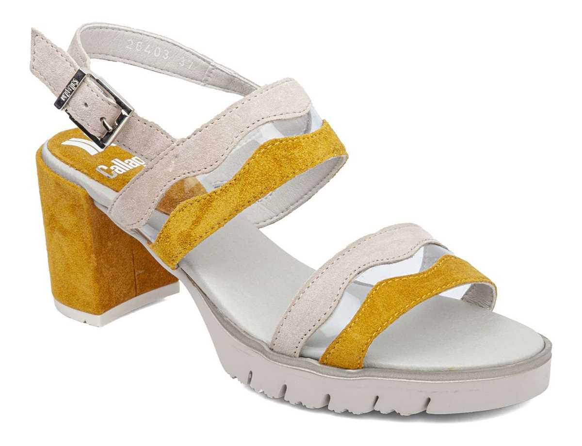 Callaghan Mujer Zapato Vestir Amarillo