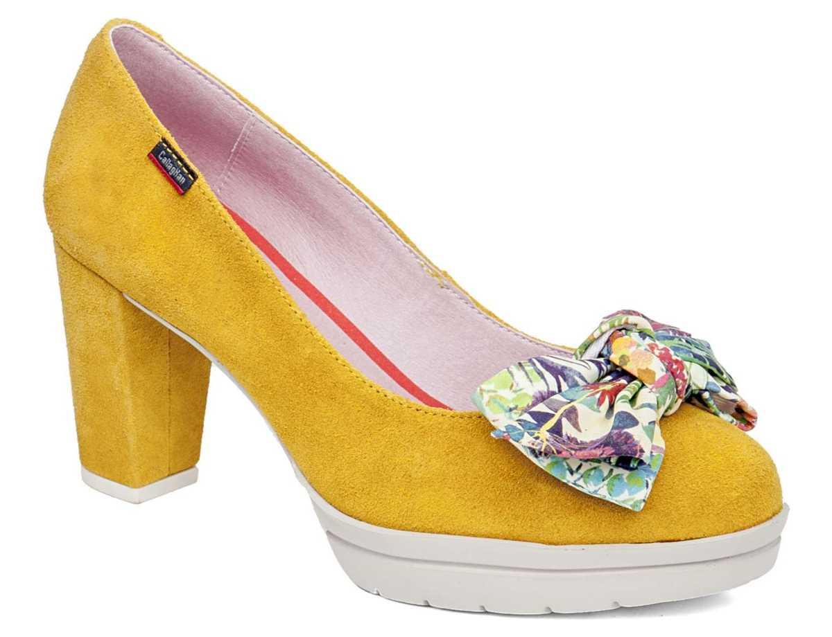 Callaghan Mujer Zapato Casual Amarillo