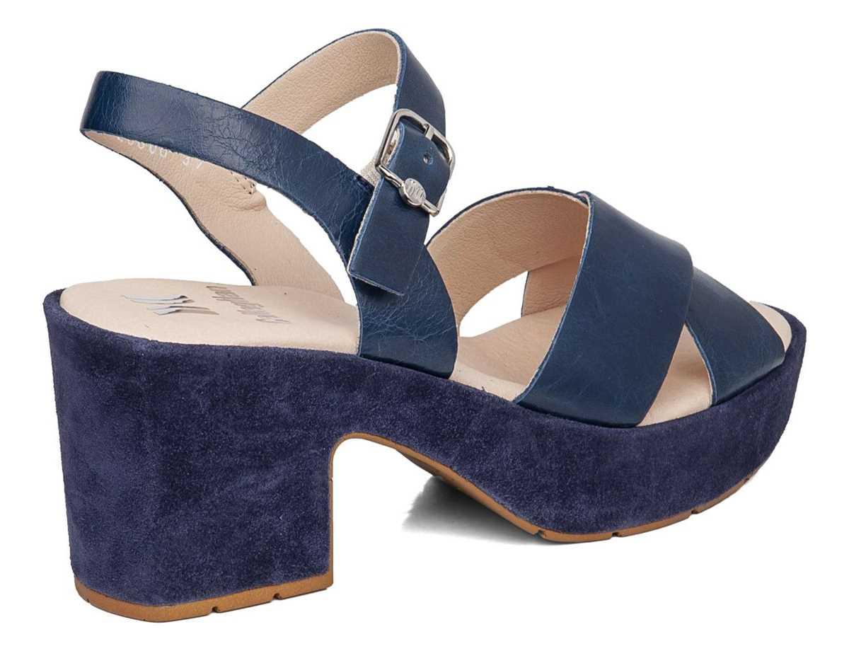 Callaghan Mujer Sandalia Tacon Casual Azul
