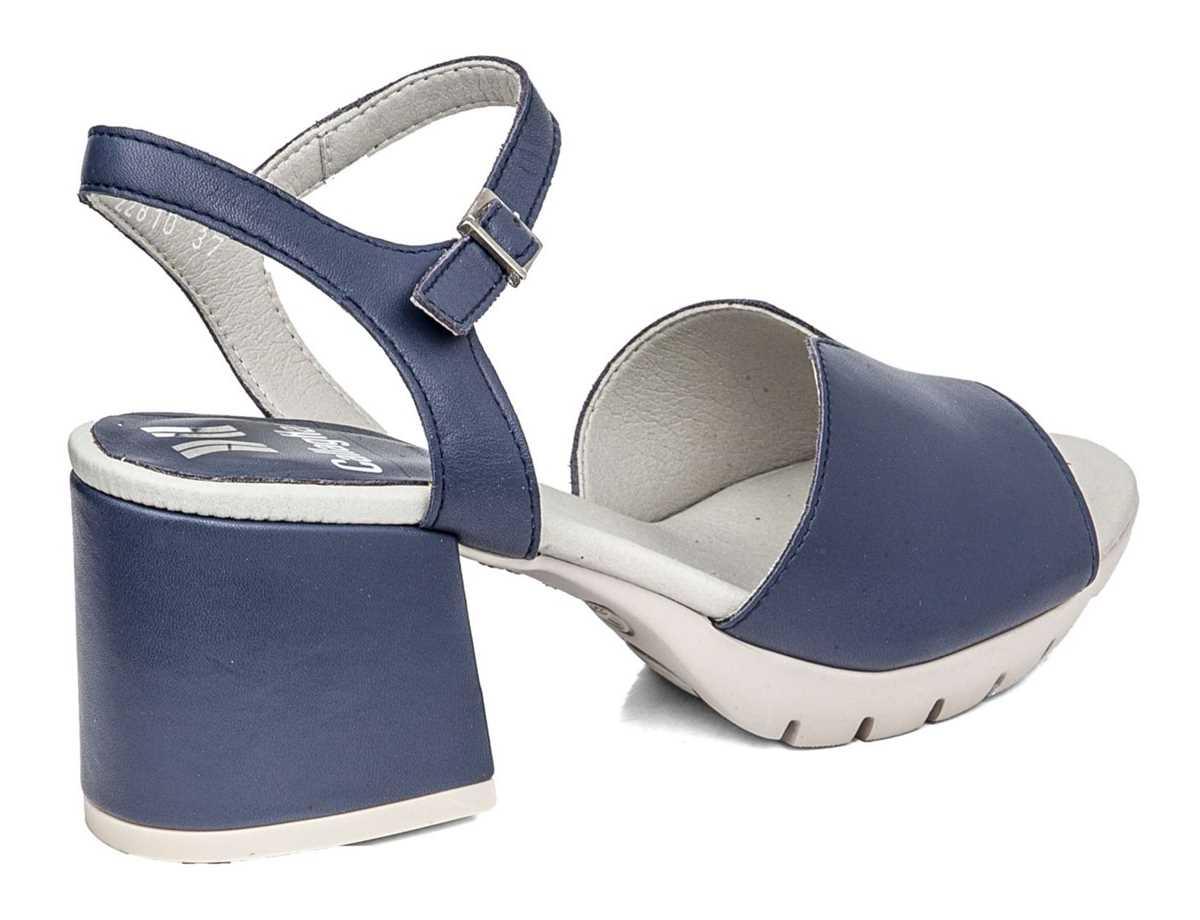 Callaghan Mujer Sandalia Tacon Vestir Azul