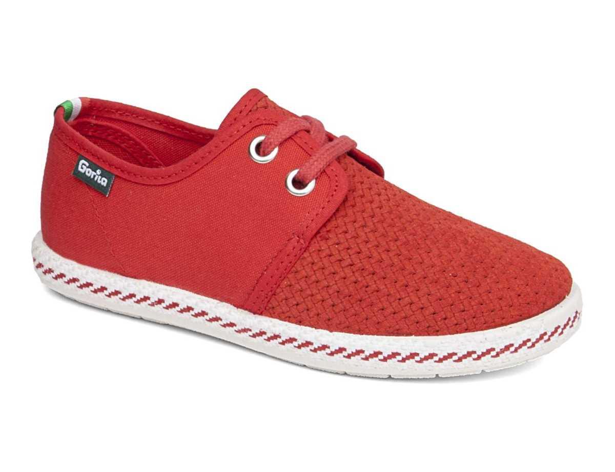 Gorila Niño Zapato Casual Rojo